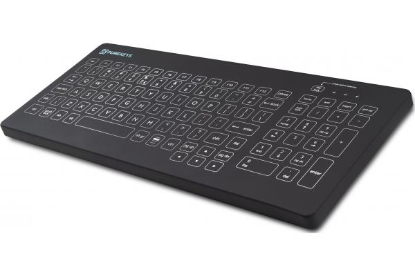 Purekeys Medical Keyboard Compact Festwinkel Schwarz